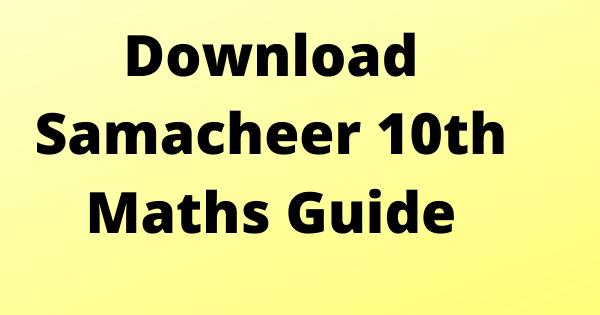 10th Maths Guide