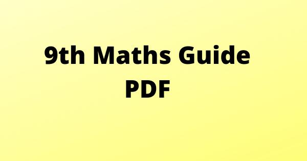 9th Maths Guide PDF